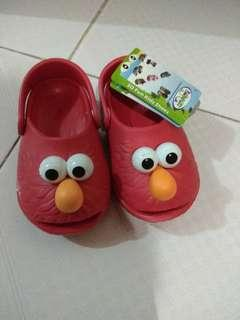 Sepatu Polliwalk Elmo red 3D Ori