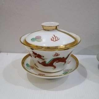 3 Pcs Tea Cup W/Lid