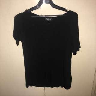 Topshop black crisscross top