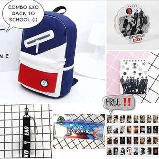 SPECIAL PREORDER - COMBO EXO BACK TO SCHOOL EXC.POS