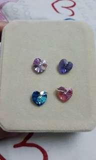 Swarovski LOVE shape Beads