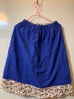 日風藍色斯文裙