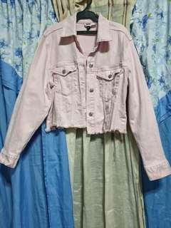 Denim Jacket pink H&M free sf manila