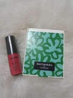 Nyx soft matte lipstick with free clinique mirror