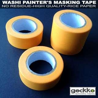 WASHI PAINTER'S MASKING TAPE by Geckko Specialty Tapes