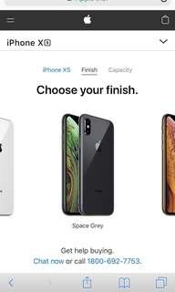 Iphone Xs (64gb) in space grey