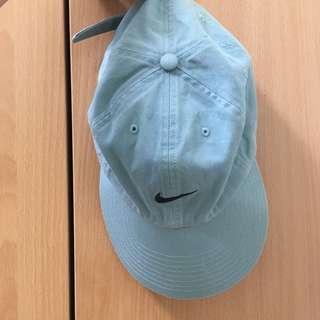 🚚 Nike 古著老帽 藍色 淺藍 粉藍 霧藍