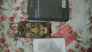 Case iphone 5s/5 dan anti gores kaca A8