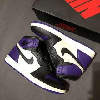 Nike jordan 1 court purple