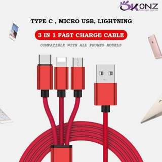 OKONZ Highest Quality Fast Charge Cable Denim Durable