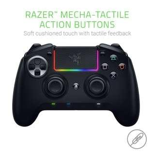 Razer Raiju Ultimate Wireless and Wired Gaming Controller with Mecha Tactile Action Buttons, Interchangeable Parts, Quick Control Panel and RGB Chroma Illumination, Black