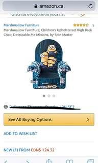 Minion marshmallow soft chair brand new