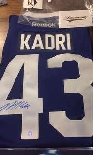 Brand new autographed Nazem Kadri Toronto maple leafs jersey with COA
