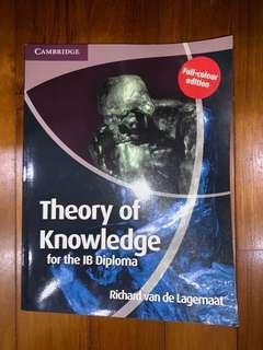 IB Theory of Knowledge TOK textbook by Richard van de Lagemaat