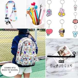 SPECIAL PREORDER - COMBO BT21 BACK TO SCHOOL EXC.POS