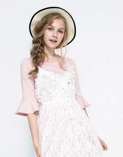 Lovfee 兩件式浪漫蕾絲洋裝