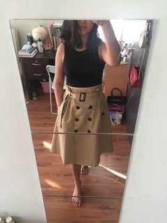Trench coat skirt