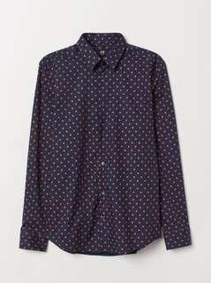 H&M spotted slim fit shirt