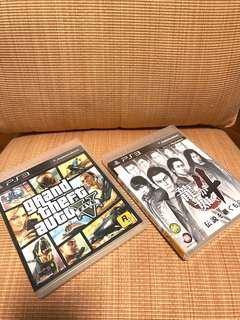 PS3 Game Grand Theft Auto v 5 龍如4  PlayStation batman 另外有售明日香凌波麗高達模型