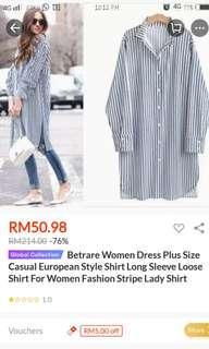 Striped long shirt #NEW99