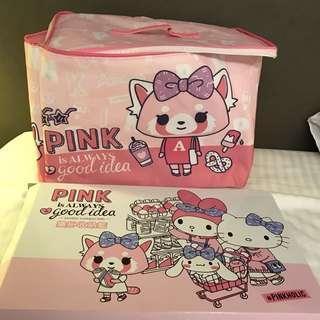 台灣7-11 Sanrio Pinkholic 衝吧烈子儲物袋  全新