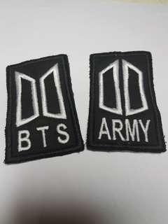BTS, ARMY Iron On Patch, K POP Patch, Badge, Free Shipping