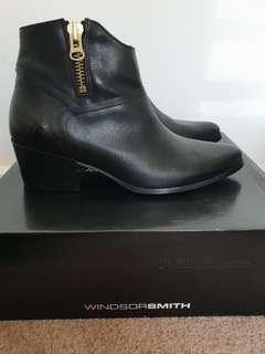 WINDSOR SMITH beautiful leather ankle boots BNWT BNWB
