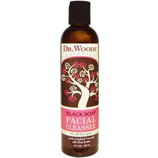 [Ready Stock] Dr Woods Black Soap with Shea Butter Gel Facial Cleanser 236ml