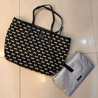 Kate Spade Diaper Bag with nappy changer pad
