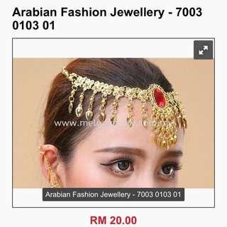 Arabian / belly dance head piece / chain