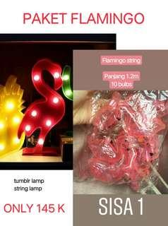 FREE ONGKIR TUMBLR LAMP n STRING LAMP FLAMINGO