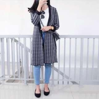 Houndstooth outter/coat/cardigan