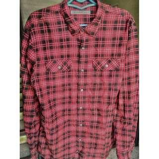 Giordano Red Flannel Long Sleeves