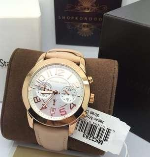 MK MERCER LEATHER AUTHENTIC WATCH
