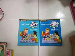 P4 My Pals are Here! Maths 4A & 4B Pupil's Books 3rd edition (Both for $7 if meet at lot1, $5.50 if meet at cck ave 4)