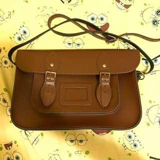 The leather satchel made in uk 12.5inch bag