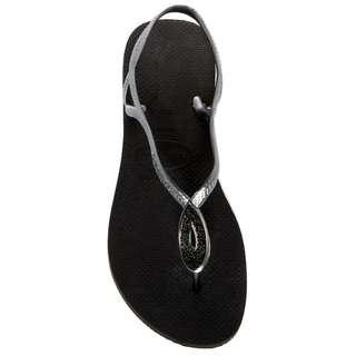 Havaianas Luna Special Crystal Accented Thong Sandal - Black 35/36