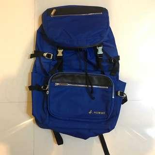 Agnes b large volume backpack blue color
