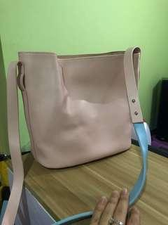 真皮水桶包 leather handbag95%new