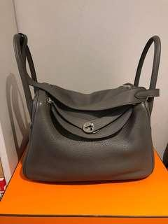 1732df6d831f Authentic Hermes Lindy 30 Etain Clemence PHW for sale