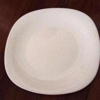 New White Square Porcelain Glass Dinner Plates