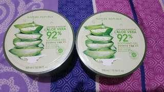 2 Pcs Nature Republic Aloe Vera ORIGINAL Beli Langsung dari Korea (BARU/MASIH SEGEL)