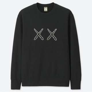 KAWS X Sesame Street Sweat Shirt (Black) Size XXL