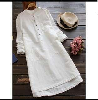 White long blouse (L)
