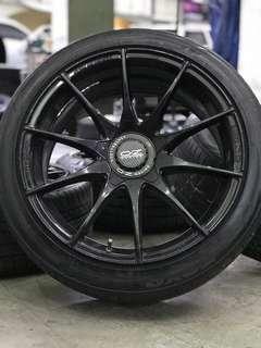 Oz racing hlt 18 inch sports rim camry tyre 70%