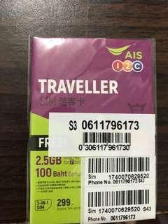 🚚 泰國AIS網卡