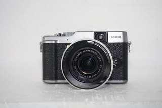Fujifilm X20 with accessories