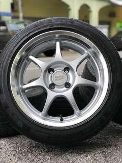 Original 16 inch sports rim enkei rs tyre 70% made in japan