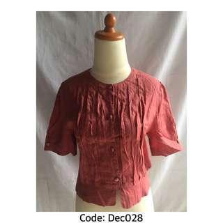 #jualanibu Blouse Soft Merah Lengan Pendek