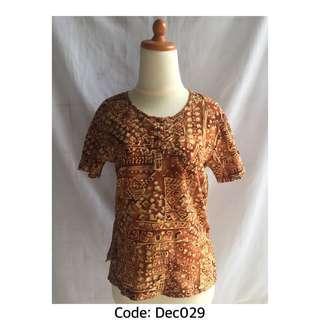 #jualanibu Shirt Coklat Art Motif
